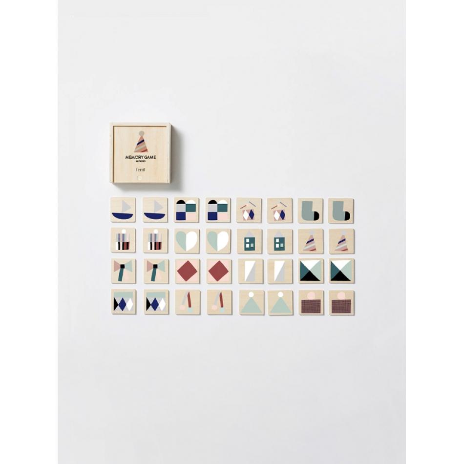ferm living kids kollektion memory spiel aus holz. Black Bedroom Furniture Sets. Home Design Ideas