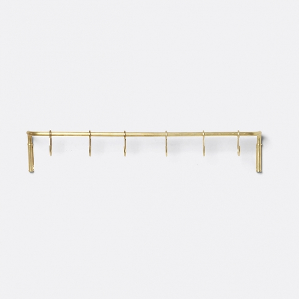 FERM LIVING Kitchen Rod Hakenleiste Messing