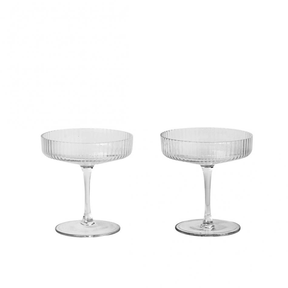 ferm living ripple champagner gl ser online shop. Black Bedroom Furniture Sets. Home Design Ideas