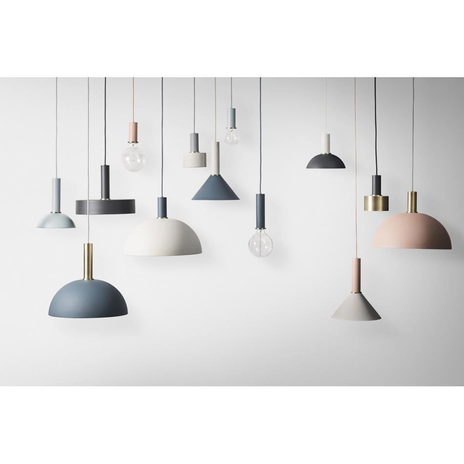 Ferm living lampenschirm dome grau collect lighting for Lampen scandinavian design