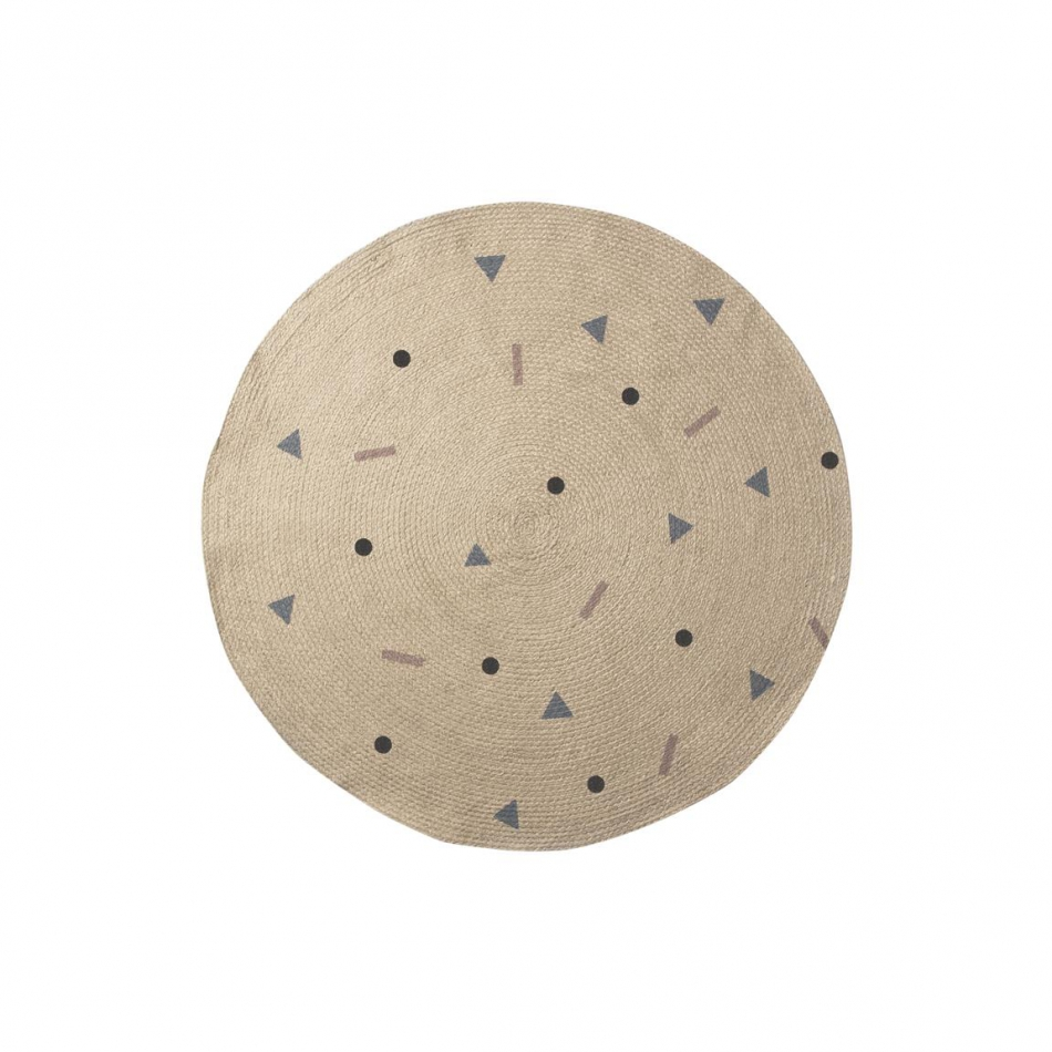 ferm Living Kids  Jute Teppich Rose Multi