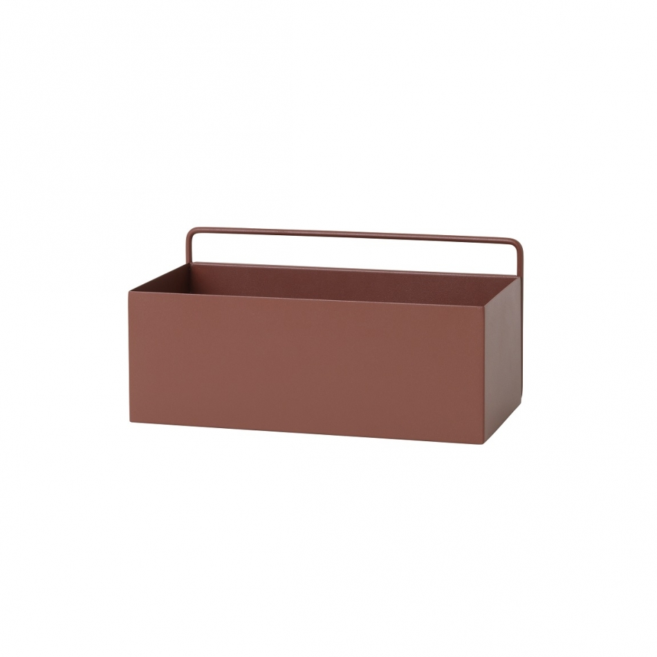 FERM LIVING Wall Box rechteckig red brown