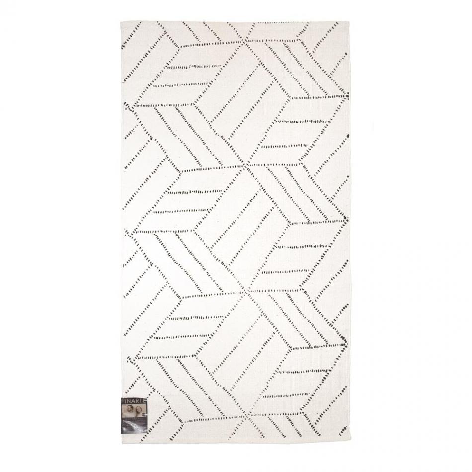 FINARTE Teppich Kievari whiteblack 80×150 cm