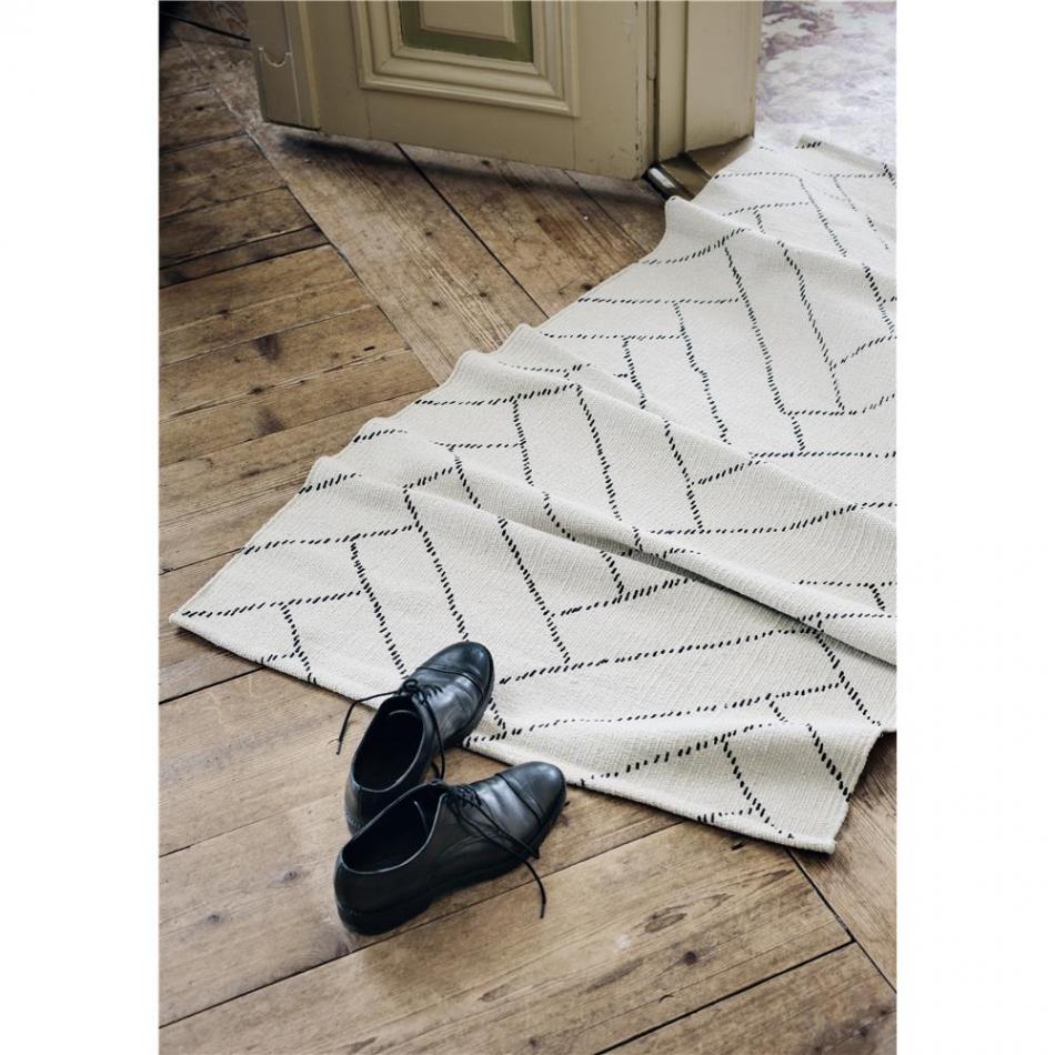 FINARTE Teppich Aitta whiteblack 140×200 cm