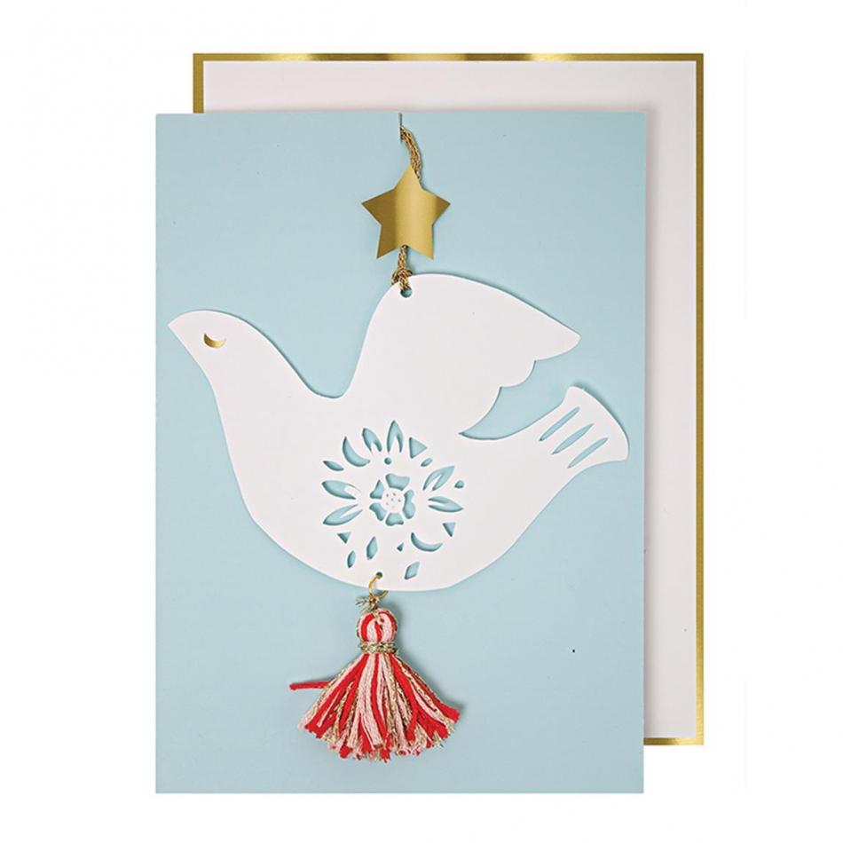 MERI MERI Grußkarte mit Taube