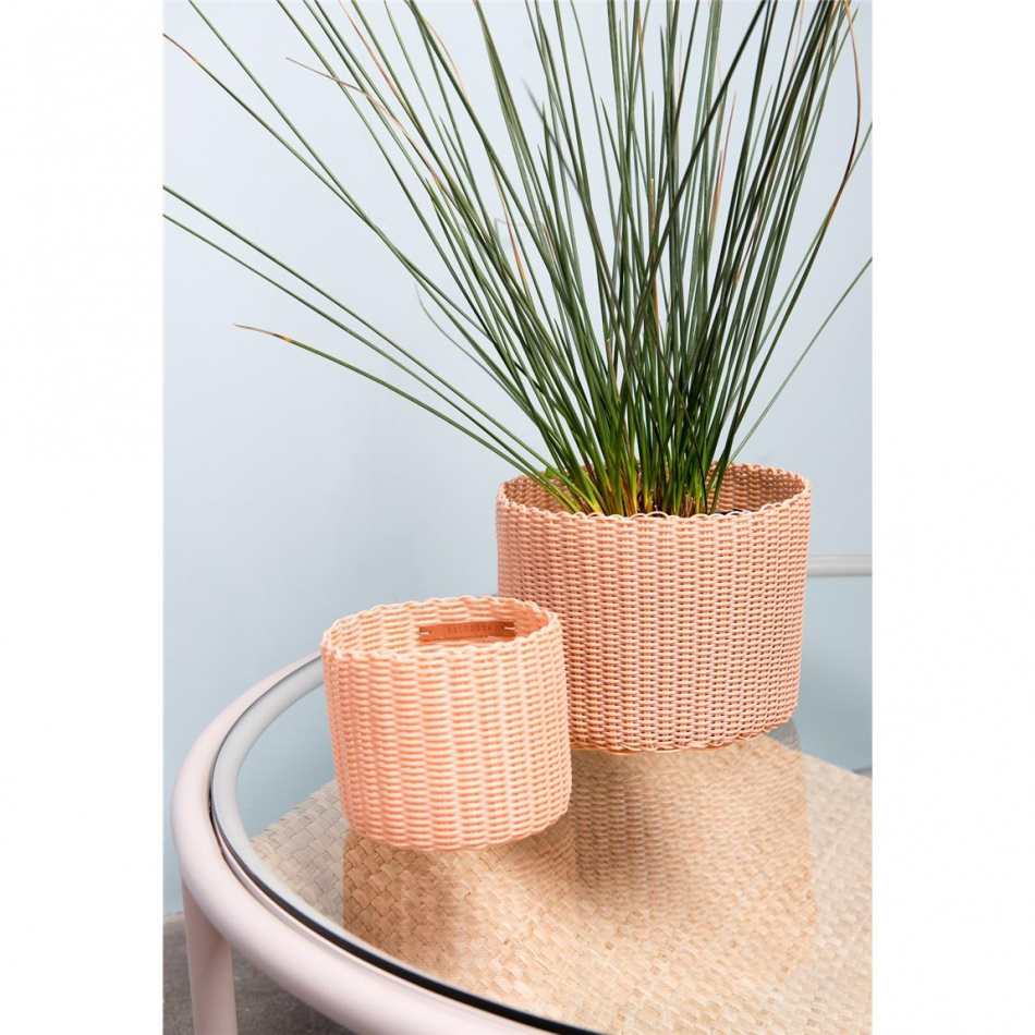 PALOROSA Korb Pot Small B peach
