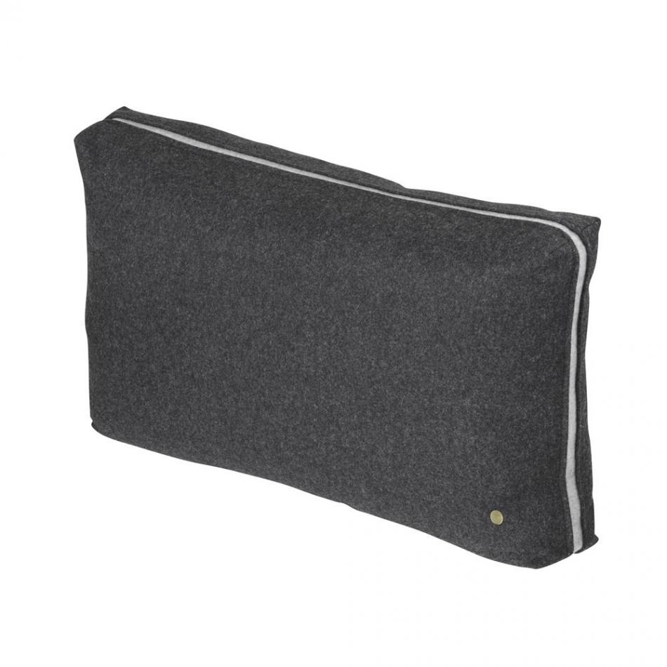ferm living wool cushion dark grey. Black Bedroom Furniture Sets. Home Design Ideas