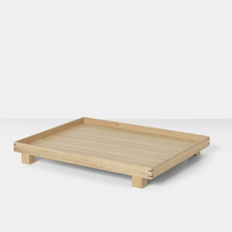 FERM LIVING Bon Tablett large natur