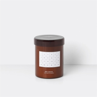 FERM LIVING Duftkerze Calendar red brown