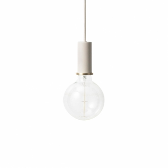 FERM LIVING Hängeleuchte Socket low light grey