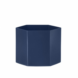 FERM LIVING Hexagon Pot extra large blue