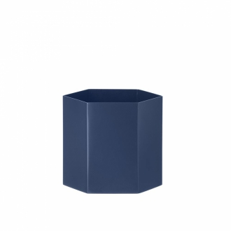 FERM LIVING Hexagon Pot large blue