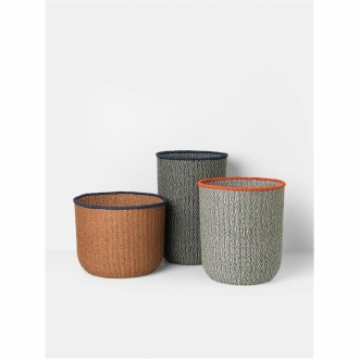 FERM LIVING Kids Korb tall dusty green