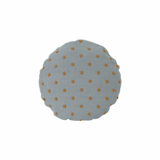 FERM LIVING Kids Popcorn Kissen rund dusty mint