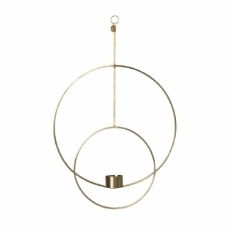 FERM LIVING Teelicht-Ring Messing rund