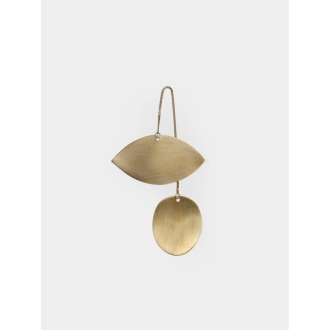 FERM LIVING Twin Eye Ornament Messing