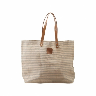 HOUSE DOCTOR Shopping Bag Breze grau gestreift