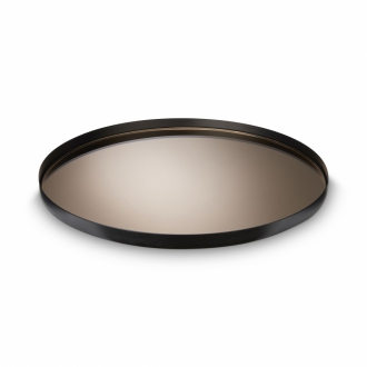 H.SKJALM P. Tablett Mirror Tray taupe