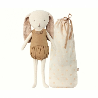 MAILEG Hase Bunny Bell in bag gold