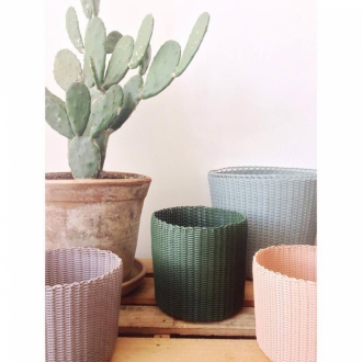 PALOROSA Korb Pot Small A concrete