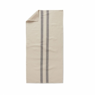 SKAGERAK Handtuch Stripes cream/dark blue 50x100 cm
