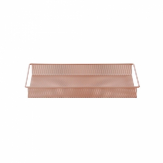 FERM LIVING Metalltablett rose S