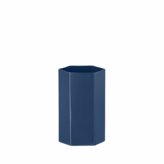 FERM LIVING Hexagon Vase blue