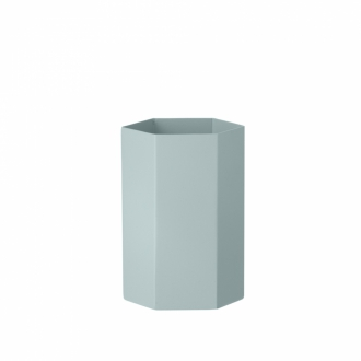 FERM LIVING Hexagon Vase light blue
