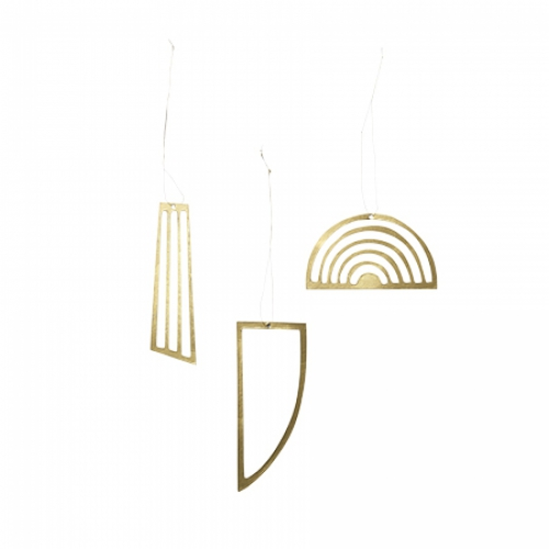 FERM LIVING Golden Ornaments 3er Set