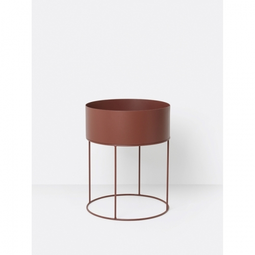 FERM LIVING Plant Box round red brown