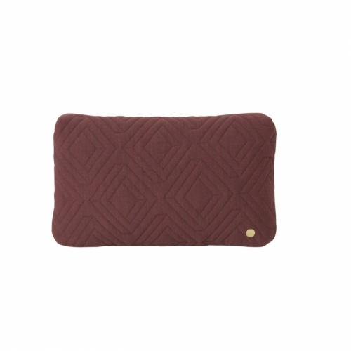 FERM LIVING Quilt Kissen rust small