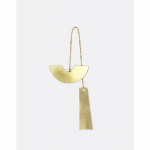 FERM LIVING Twin Half Circle Ornament Messing