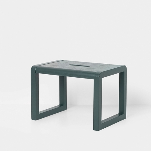 FERM LIVING Kids Little Architect Hocker dunkelgrün