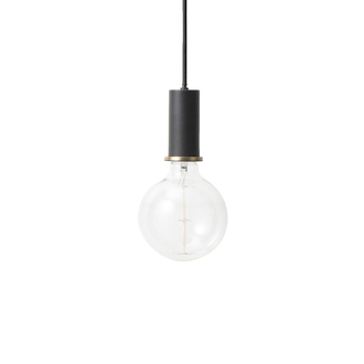 FERM LIVING Hängeleuchte Socket low black