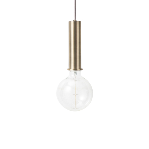 FERM LIVING Collect Hängeleuchte Socket high brass