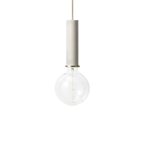 FERM LIVING Hängeleuchte Socket high light grey