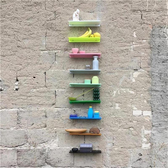 KOLOR Wandregal z-shelf small white