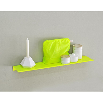 KOLOR Wandregal z-shelf small fluo yellow
