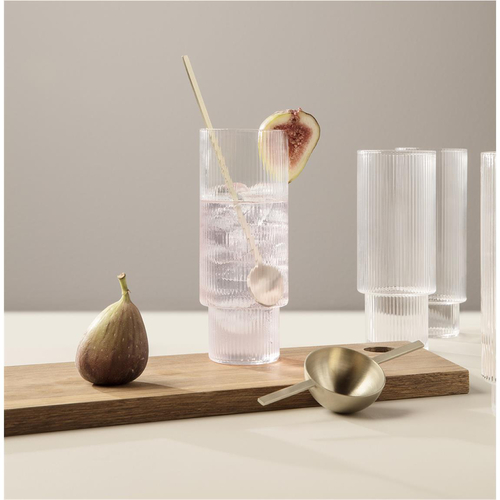 FERM LIVING Ripple Long Drink Gläser 4er Set