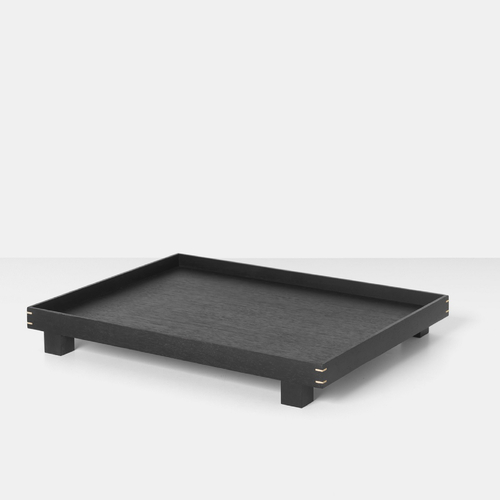FERM LIVING Bon Tray Tablett large schwarz