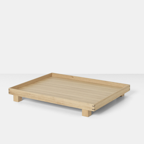 FERM LIVING Bon Tray Tablett large natur