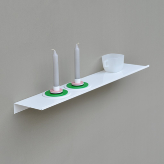 KOLOR Wandregal z-shelf large white