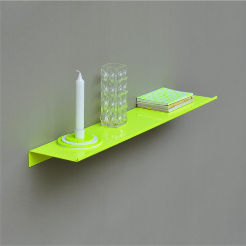 KOLOR Wandregal z-shelf large neon yellow
