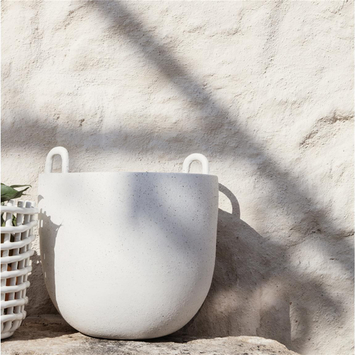 FERM LIVING Speckle Pot large offwhite