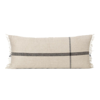 FERM LIVING Calm Kissen 40x90cm camel/black