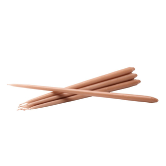 STOFF Nagel Slim Taper Candles Kerzen dusty rose 6er Pack