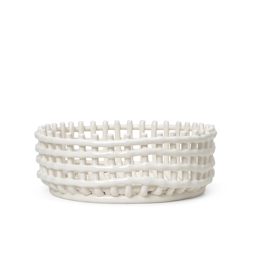 FERM LIVING Ceramic Centerpiece Schale off white